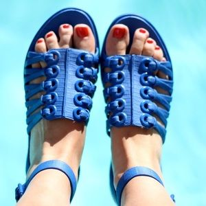 Authentic Givenchy Cobalt Blue Cage Sandals 37